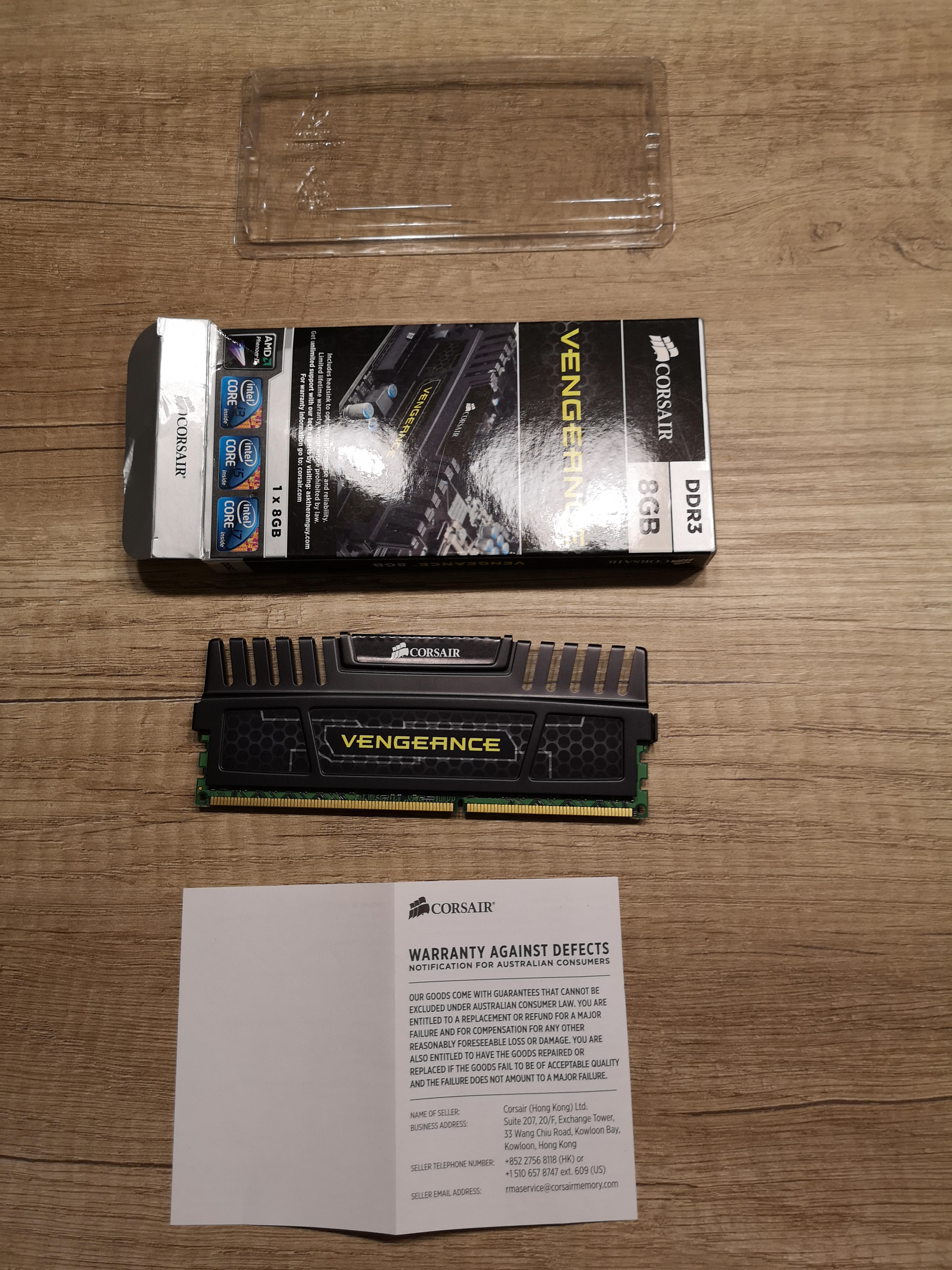 P: Predám Ram Corsair DDR3 8GB 1600 Mhz VENGEANCE
